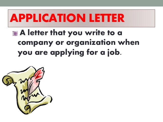 to write an application letter