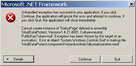 unhandled exception has occurred in a component in your application