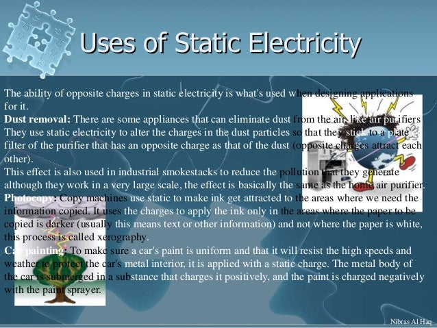 useful applications of static electricity