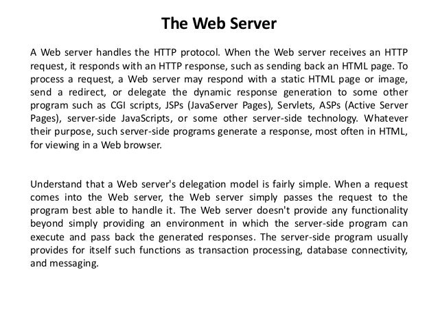 web server vs application server examples