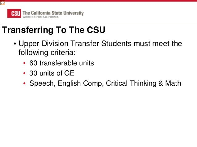 what is the deadline for csu application