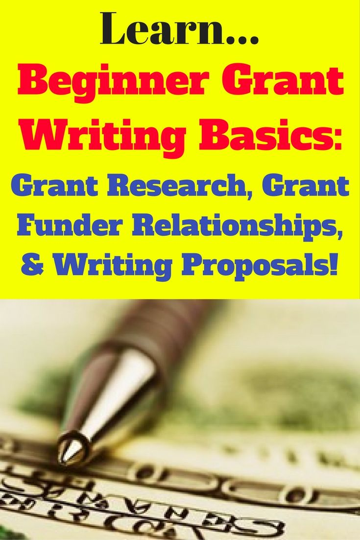 writing a grant application for funding